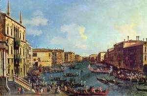(Giovanni Antonio Canal) Canaletto - Venice- A Regatta on the Grand Canal, c.1740