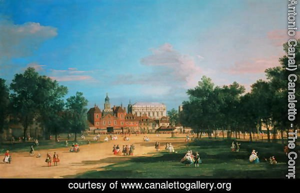 Old Horse Guards and the Banqueting Hall, Whitehall from St James's Park, 1749