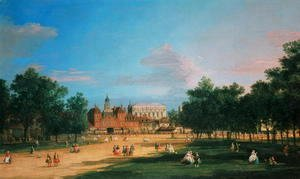 (Giovanni Antonio Canal) Canaletto - Old Horse Guards and the Banqueting Hall, Whitehall from St James's Park, 1749