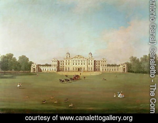 (Giovanni Antonio Canal) Canaletto - Badminton House, Gloucestershire