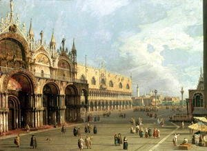 (Giovanni Antonio Canal) Canaletto - St.Mark's Square, Venice