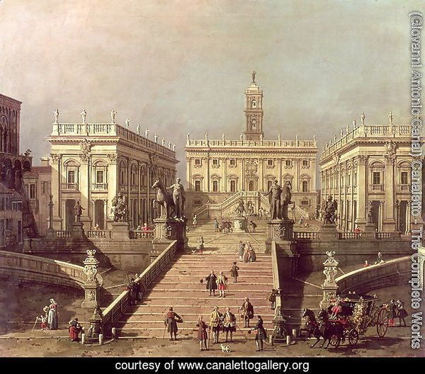View of Piazza del Campidoglio and Cordonata, Rome