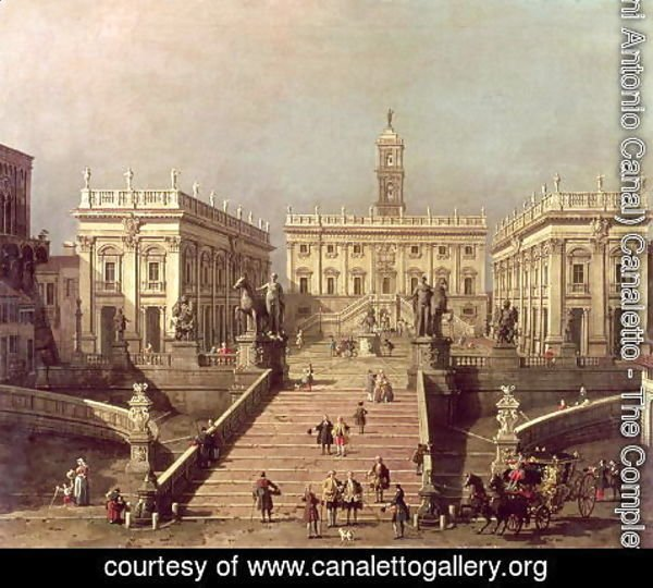 (Giovanni Antonio Canal) Canaletto - View of Piazza del Campidoglio and Cordonata, Rome