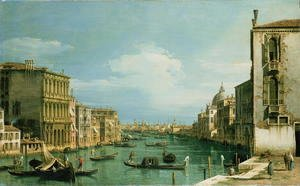 (Giovanni Antonio Canal) Canaletto - The Grand Canal Venice looking East from the Campo di San Vio