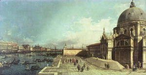 (Giovanni Antonio Canal) Canaletto - The entrance to the Grand Canal, Venice with the Church of Santa Maria della Salute