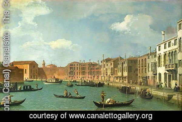 (Giovanni Antonio Canal) Canaletto - View of the Canal of Santa Chiara, Venice