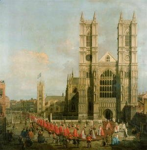 (Giovanni Antonio Canal) Canaletto - Procession of the Knights of the Bath