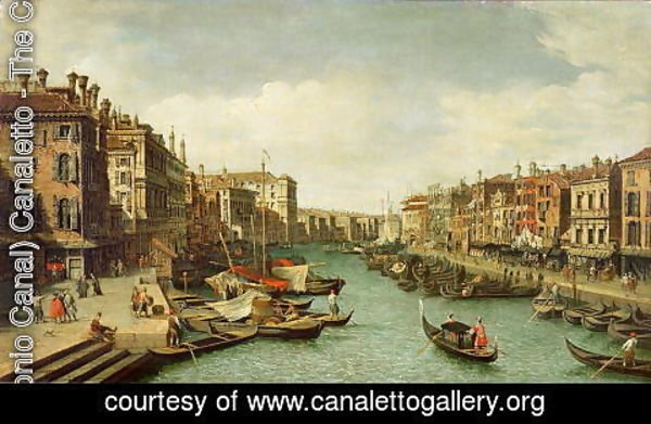 (Giovanni Antonio Canal) Canaletto - The Grand Canal near the Rialto Bridge, Venice, c.1730 (2)