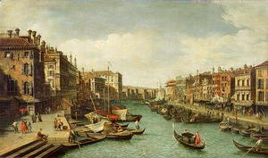 The Grand Canal near the Rialto Bridge, Venice, c.1730 (2)
