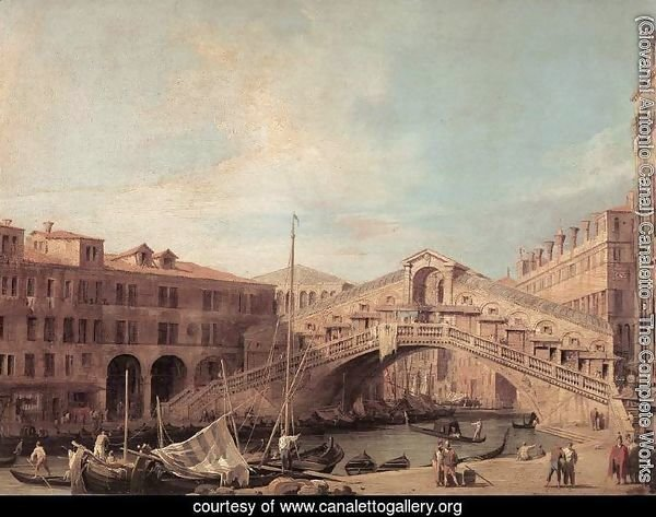 Grand Canal: The Rialto Bridge from the South