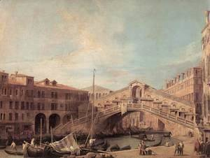 (Giovanni Antonio Canal) Canaletto - Grand Canal: The Rialto Bridge from the South