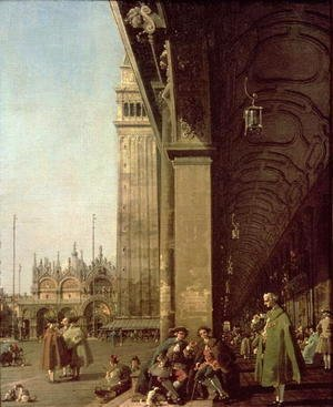 (Giovanni Antonio Canal) Canaletto - Venice- Piazza di San Marco and the Colonnade of the Procuratie Nuove, c.1756