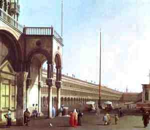 (Giovanni Antonio Canal) Canaletto - Piazza di San Marco from the Doges' Palace