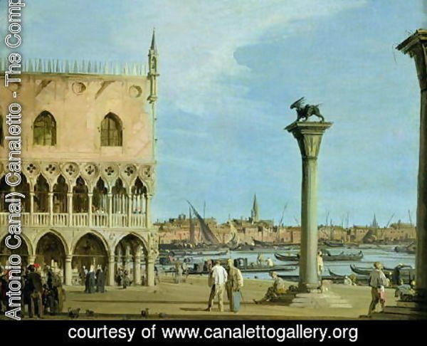 (Giovanni Antonio Canal) Canaletto - The Piazzetta di San Marco Looking South, Venice