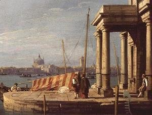 (Giovanni Antonio Canal) Canaletto - The Quay of the Dogano, Venice
