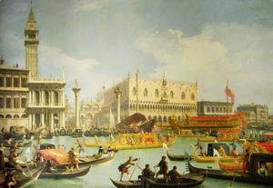 (Giovanni Antonio Canal) Canaletto - The Betrothal of the Venetian Doge to the Adriatic Sea, c.1739-30