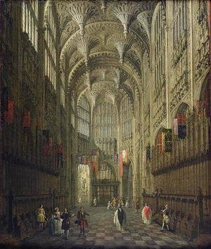 Interior of Henry VII's Chapel, Westminster Abbey, c.1750