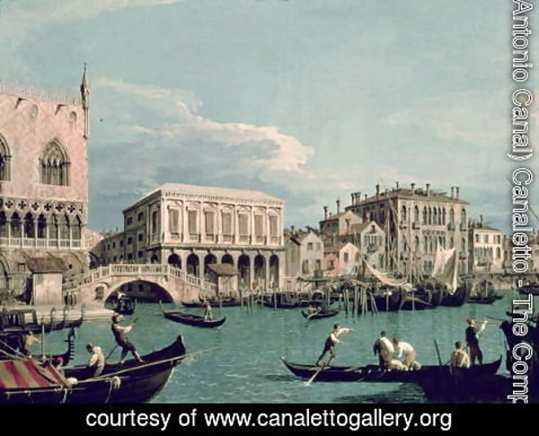 (Giovanni Antonio Canal) Canaletto - Bridge of Sighs, Venice (La Riva degli Schiavoni) c.1740