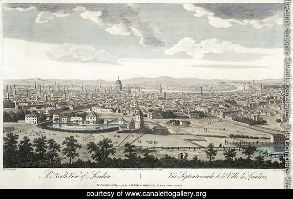 A North View of London, plate 3 from 'Views of London',  1794