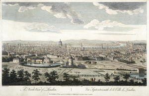 (Giovanni Antonio Canal) Canaletto - A North View of London, plate 3 from 'Views of London',  1794