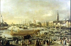 (Giovanni Antonio Canal) Canaletto - Venice- the Bacino di S. Marco on Ascension Day