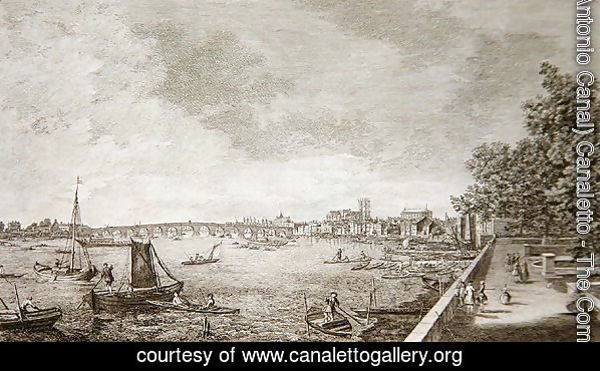 A View from Somerset Gardens to Westminster Bridge, 1750