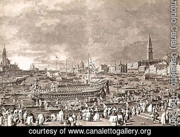 (Giovanni Antonio Canal) Canaletto - The Disembarkation of the Doge on the Bucintoro for the Marriage to the Sea