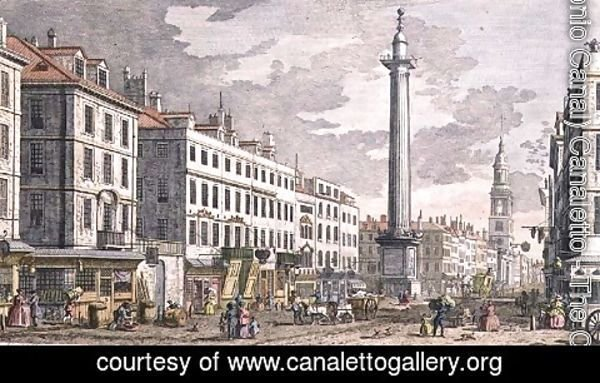 (Giovanni Antonio Canal) Canaletto - Monument erected in Memory of the Fire of London