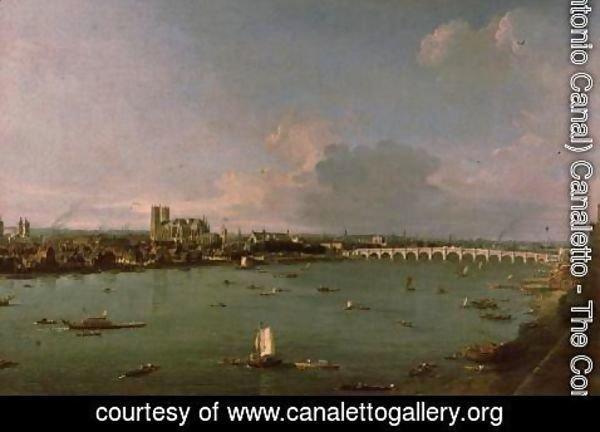 (Giovanni Antonio Canal) Canaletto - View of the Thames from South of the River