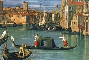 (Giovanni Antonio Canal) Canaletto - The Grand Canal at the Salute Church [detail]