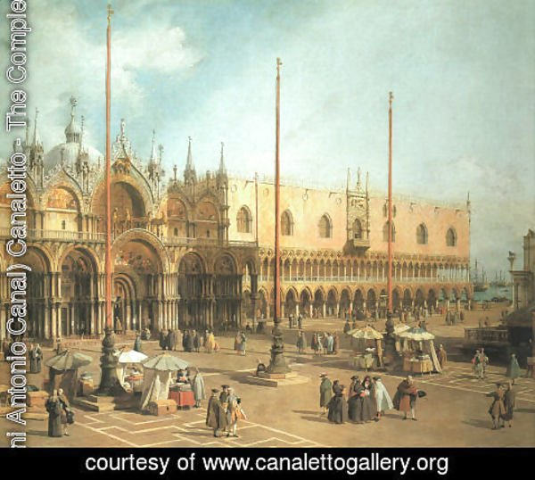 (Giovanni Antonio Canal) Canaletto - Piazza San Marco - Looking Southeast