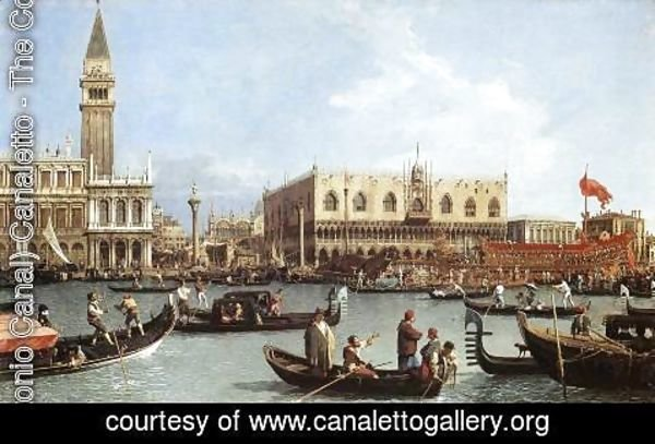 (Giovanni Antonio Canal) Canaletto - Return of the Bucentaurn to the Molo on Ascension Day