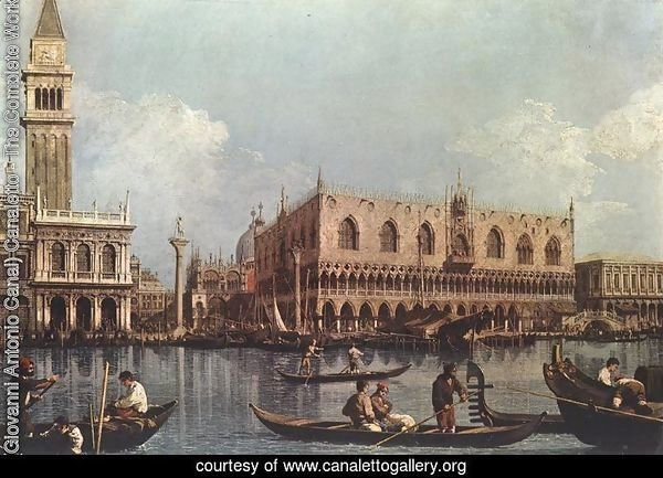 View of the Bacino di San Marco (or St Mark's Basin)