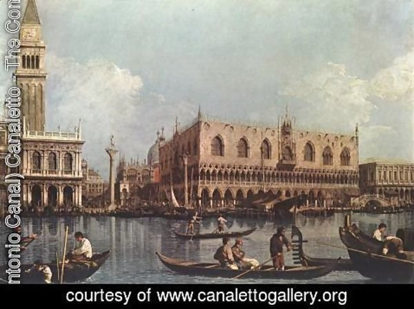 (Giovanni Antonio Canal) Canaletto - View of the Bacino di San Marco (or St Mark's Basin)