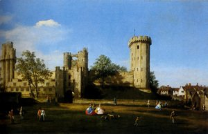 (Giovanni Antonio Canal) Canaletto - The Eastern Facade Of Warwick Castle