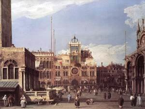 (Giovanni Antonio Canal) Canaletto - Piazza San Marco: the Clocktower