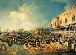 (Giovanni Antonio Canal) Canaletto - Reception of the Ambassador in the Doge's Palace