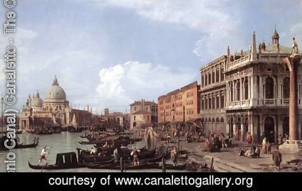 (Giovanni Antonio Canal) Canaletto - The Molo: Looking West