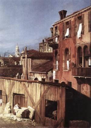 (Giovanni Antonio Canal) Canaletto - The Stonemason's Yard (detail)