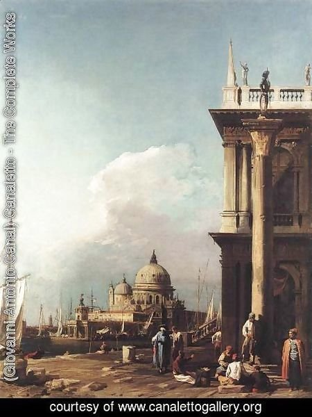 (Giovanni Antonio Canal) Canaletto - Venice: The Piazzetta Looking South-west towards S. Maria della Salute