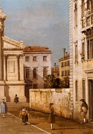 (Giovanni Antonio Canal) Canaletto - S. Francesco Della Vigna: Church And Campo