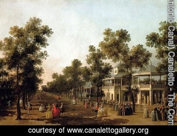 (Giovanni Antonio Canal) Canaletto - View Of The Grand Walk, vauxhall Gardens, With The Orchestra Pavilion, The Organ House, The Turkish Dining Tent And The Statue Of Aurora