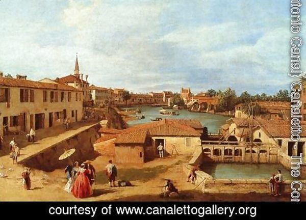 (Giovanni Antonio Canal) Canaletto - Sluice Gates at Dolo