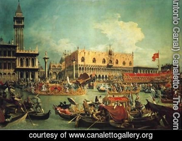 "(Giovanni Antonio Canal) Canaletto - The ""Bucintgoro"" by the Molo on Ascension Day"