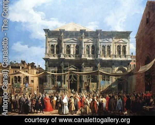 (Giovanni Antonio Canal) Canaletto - Feast of San Rocco