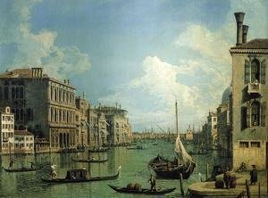 (Giovanni Antonio Canal) Canaletto - Grand Canal Near the Campo San Vio, Looking Towards the Church of Santa Maria della Salute