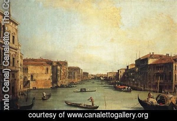 (Giovanni Antonio Canal) Canaletto - Grand Canal from the Palazzo Balbi
