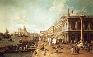 (Giovanni Antonio Canal) Canaletto - Molo with the Library