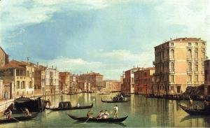 (Giovanni Antonio Canal) Canaletto - Grand Canal Between the Palazzo Bembo and the Palazzo Vendramin