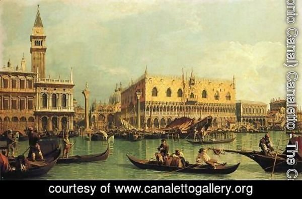 (Giovanni Antonio Canal) Canaletto - Piazzetta and the Doge's Palace from the Bacino di San Marco